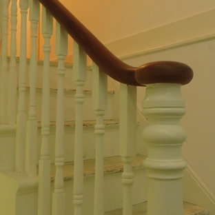 Victorian staircase in London.