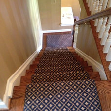 Traditional Staircase by Michael Gilboe Premium Carpet Service