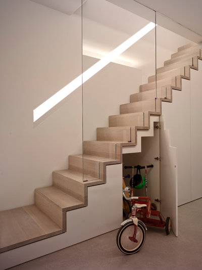 Contemporary Staircase by The Vawdrey House