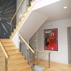 Contemporary Staircase by Architectural Homes by Anders Inc