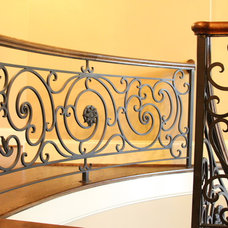 Traditional Staircase by Vincent Longo Custom Builders