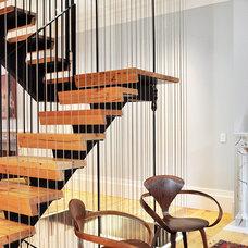 Modern Staircase by Leone Design Studio