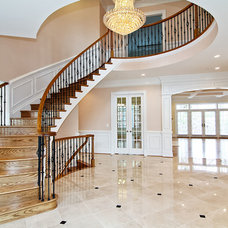 Traditional Staircase by Claude C. Lapp Architects, LLC