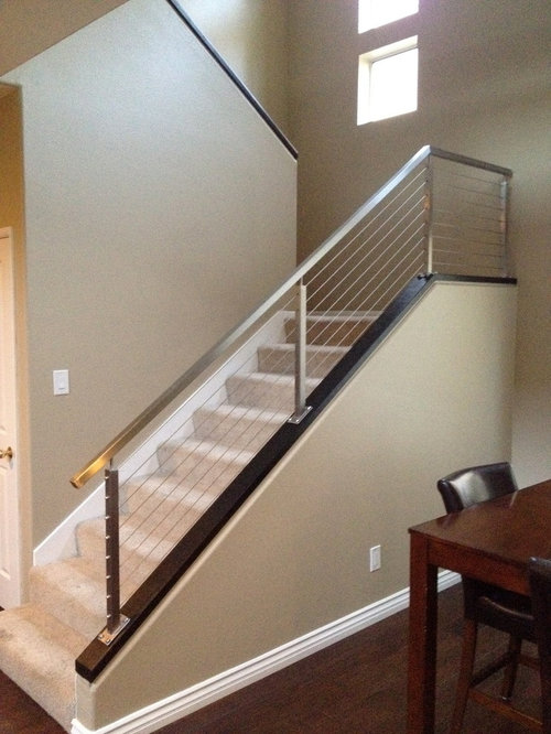 Diy railing houzz for Stainless steel railings interior