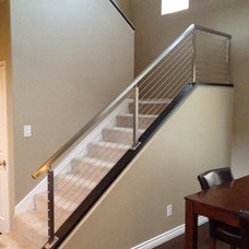 Contemporary Staircase by San Diego Cable Railings