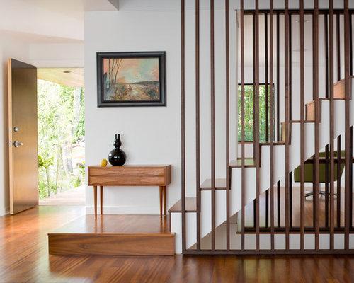 Vertical Slats Staircase Design Ideas Remodels Photos