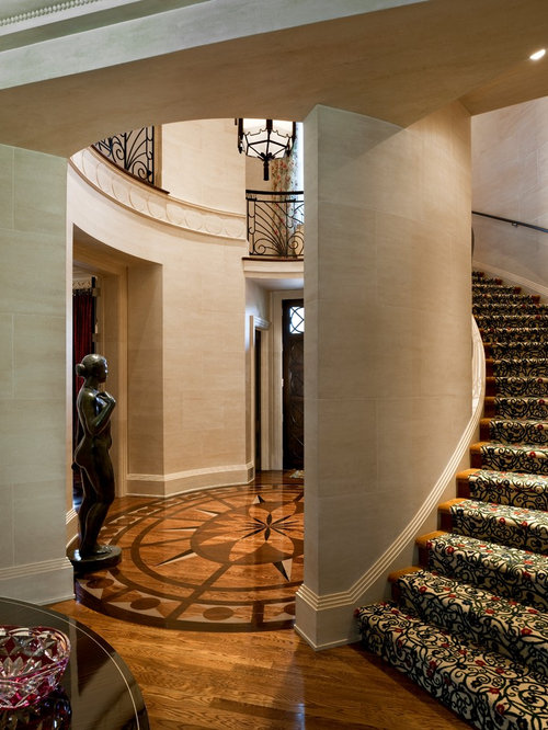 Patterned Stair Carpet Houzz