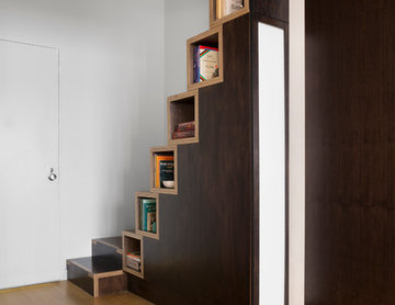 Built in Bookcase Stairs