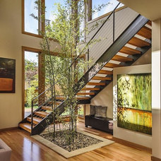 Contemporary Staircase by CleverHomes presented by Toby Long Design