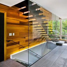 Contemporary Staircase by Gilbertson Photography