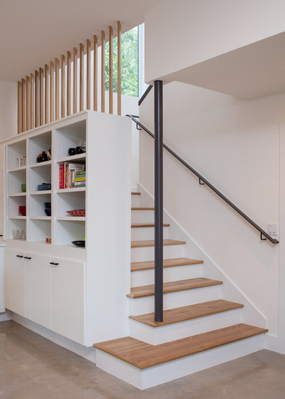 Contemporary Staircase by Don Harris, Architect