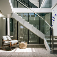 Contemporary Staircase by ethan allen construcion