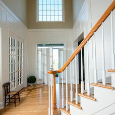 Traditional Staircase by KLF Interiors LLC