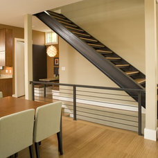Contemporary Staircase by Rottmann Collier Architects