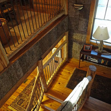 Traditional Staircase by Alderman Design Build