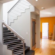 Contemporary Staircase by SK2 Design Build, A Green Planet Builder