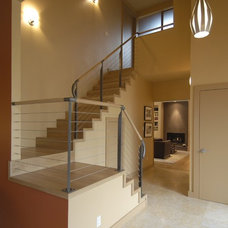 Contemporary Staircase by Mark Brand Architecture