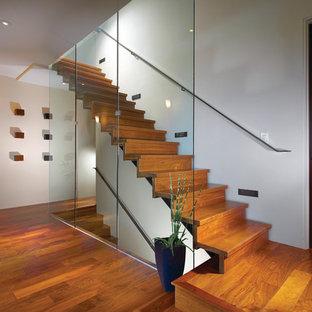 Gerade Moderne Treppe in Orange County
