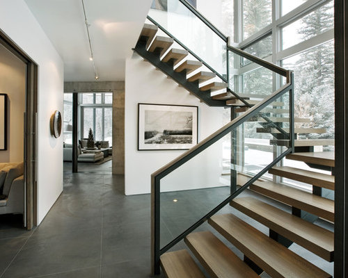 Modern staircase design ideas remodels photos for Modern house stairs