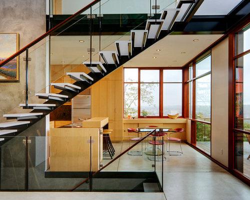 treppenhaus mit offenen setzstufen und glas treppenstufen. Black Bedroom Furniture Sets. Home Design Ideas