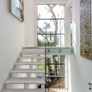 Staircase - contemporary u-shaped open staircase idea in Los Angeles