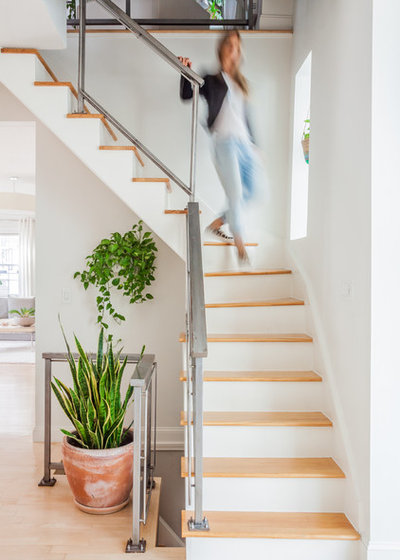 Transitional Staircase by Melissa Miranda Interior Design