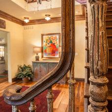 Rustic Staircase by Key Residential