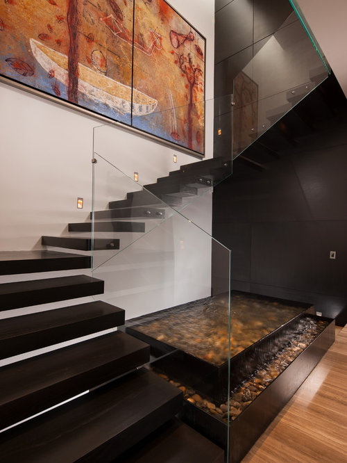 Trendy Floating Open Staircase Photo In Other