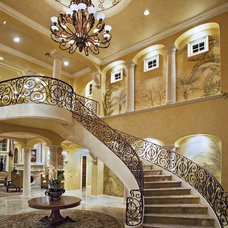 traditional staircase by JMA INTERIOR DECORATION