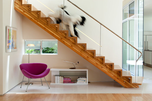 Contemporary Staircase by Architect  Heather Johnston