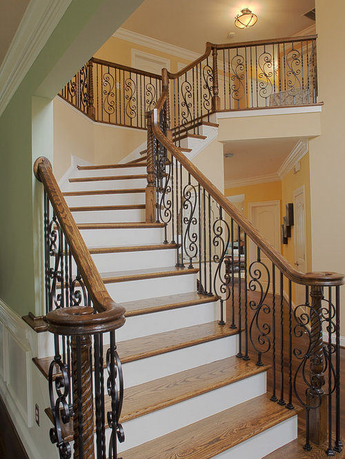Wrought Iron Banister Railings Design Ideas Amp Remodel