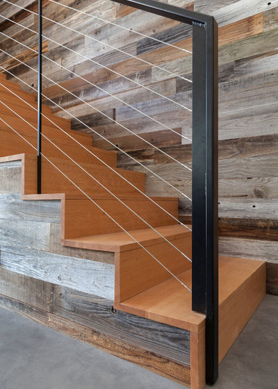 Contemporary Staircase by Atmosphere Design Build