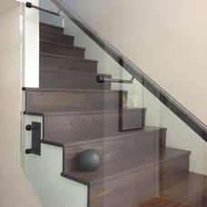 Contemporary Staircase by RYAN SINGER DESIGN