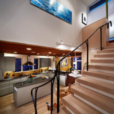 Contemporary Staircase by Ellen Cassilly Architect