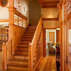 traditional staircase by Wayne Windham Architect, P.A.