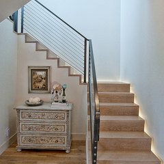 modern staircase by Cornerstone Architects