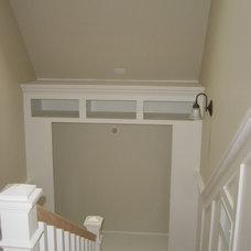 Traditional Staircase by John Marshall Custom Homes