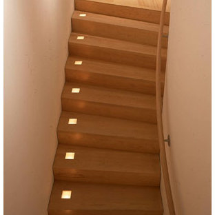 This is an example of a modern staircase in San Francisco.