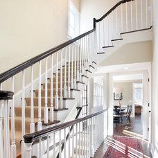 Traditional Staircase by Awad + Koontz Architects Builders