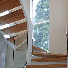 Contemporary Staircase by Celia James