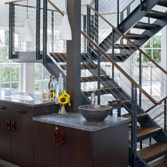 modern staircase by Venegas and Company