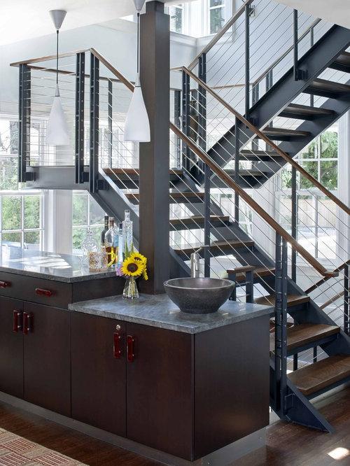 Steel flat bar hand rail home design ideas pictures