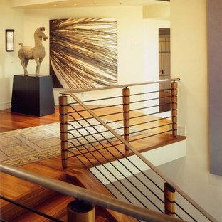 サンフランシスコのモダンスタイルのおしゃれな階段の写真