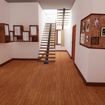 Centre Beam Open Stairs