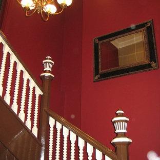 シドニーのヴィクトリアン調のおしゃれな階段の写真