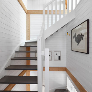 Design ideas for a rustic staircase in London.