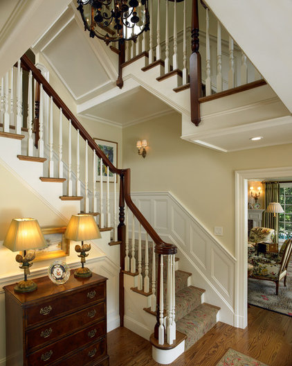 Traditional Staircase by Patrick Ahearn Architect