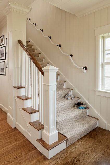 Beach Style Staircase by Dennis Moffitt Painting