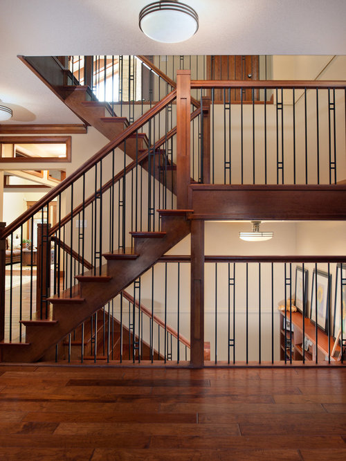 Stair railing home design ideas pictures remodel and decor for Interior iron railing designs