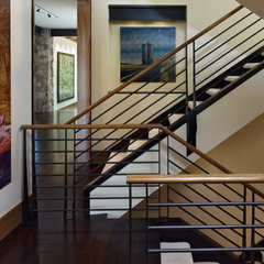 eclectic staircase by Ekman Design Studio